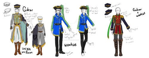 ToDA: Rieran Military Outfits by Orchaeus