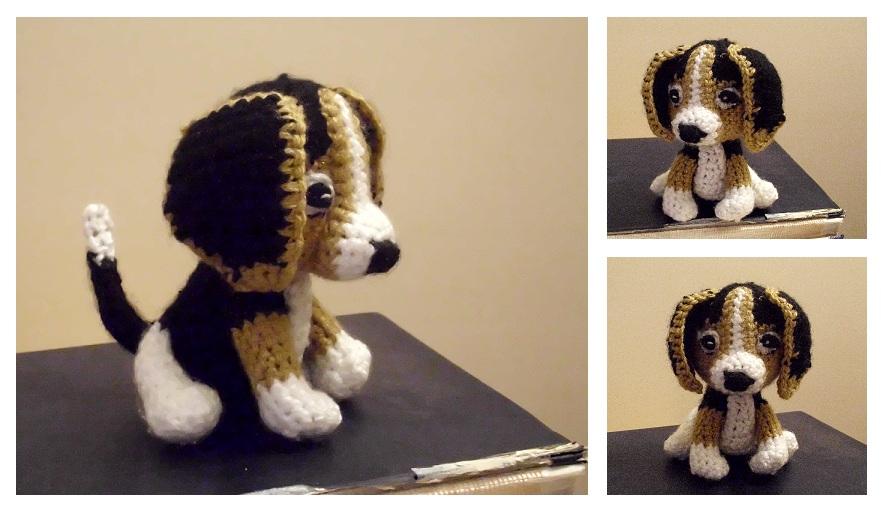 Crochet Dog Cat Christmas Stocking