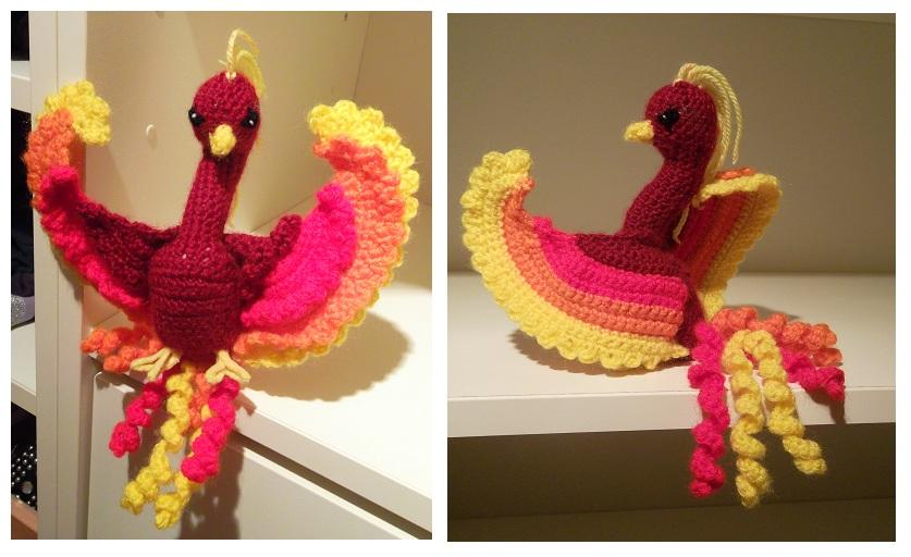 Phoenix Amigurumi by AppleGrayWolf