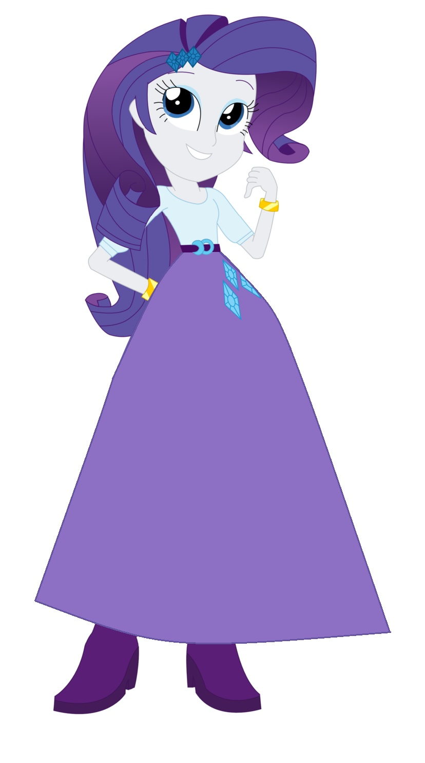 Animated Skirt rarity looking happy in a long skirtstarman1999 on