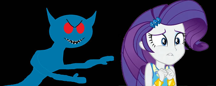 Rarity don't look behind you!