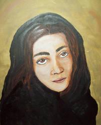 Afghani girl by Amadeb