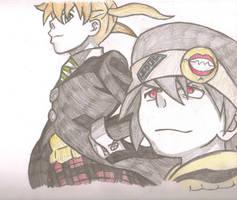 Soul and Maka II by AnimePortraits