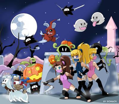 Ninja vs Ghosts by soma011