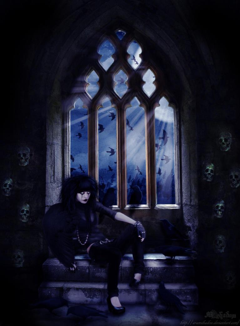 Lady crow by AramShadow
