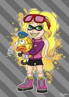 Splatoon fanfiction Character - Goldia by Stellabluegirl