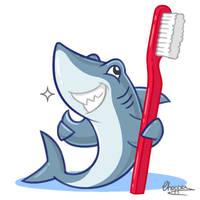 Shark mascot for toothpaste