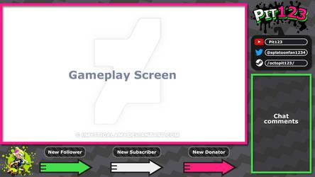 -COMMISSION- Splatoon 2 Overlay Pink/Green