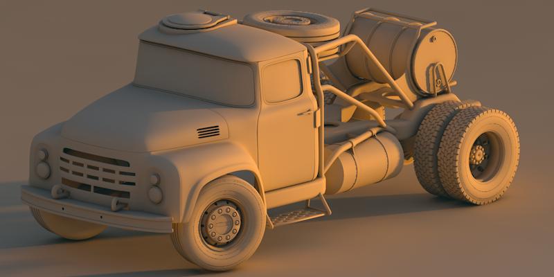 Post Apocalyptic Truck by CrazyCactuz