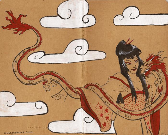 Moleskine 2- Dragon Lady by jessijordan