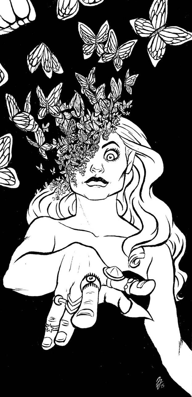 Inktober- Butterfly by jessijordan