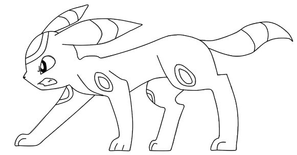 Pokemon Espeon Coloring Pages Sketch Coloring Page