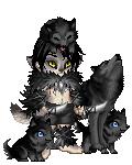Black Werewolf Warrior with Black Wolves by J-Wolfe15