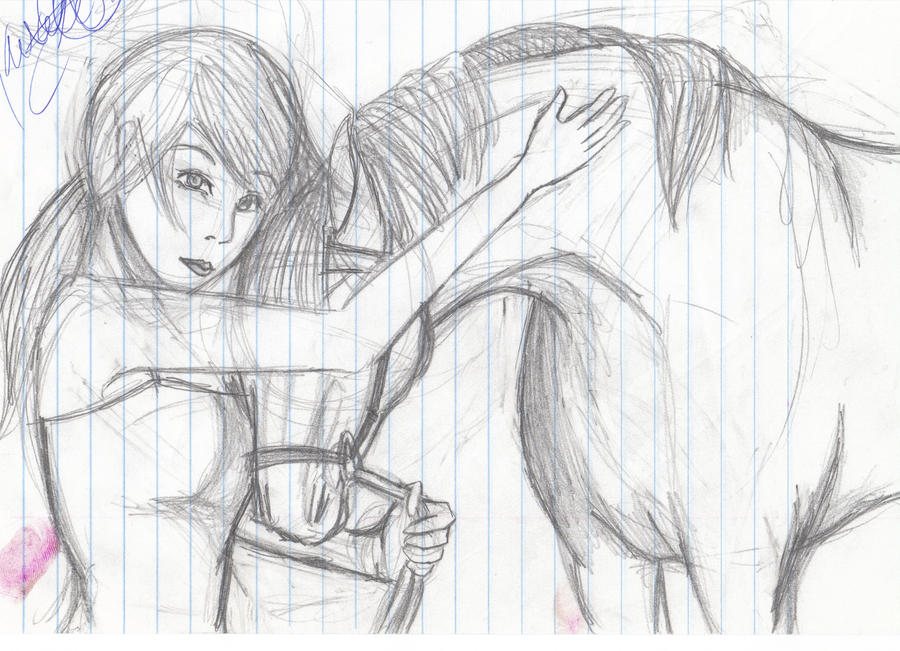 how to draw a girl on a horse