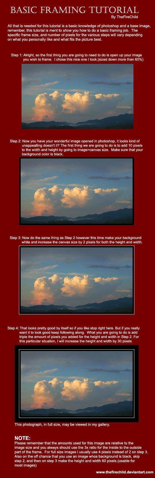 Basic Framing In Photoshop by thefirechild