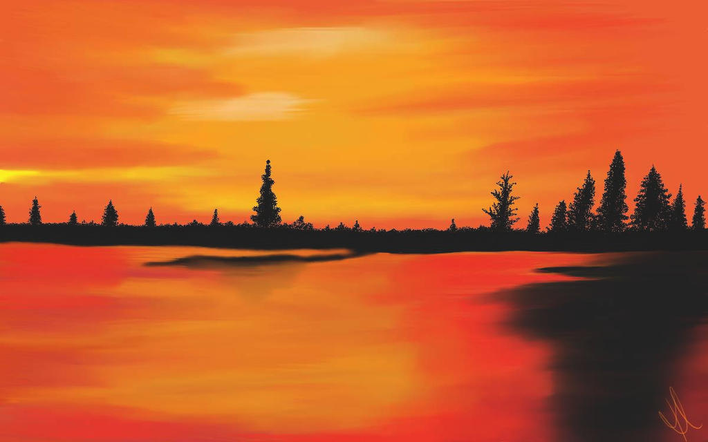 Orange Sky by Digipainter101