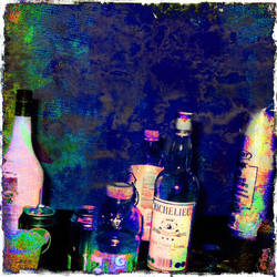 Plastic Cups And Glass Bottles by hennessy-cranberry