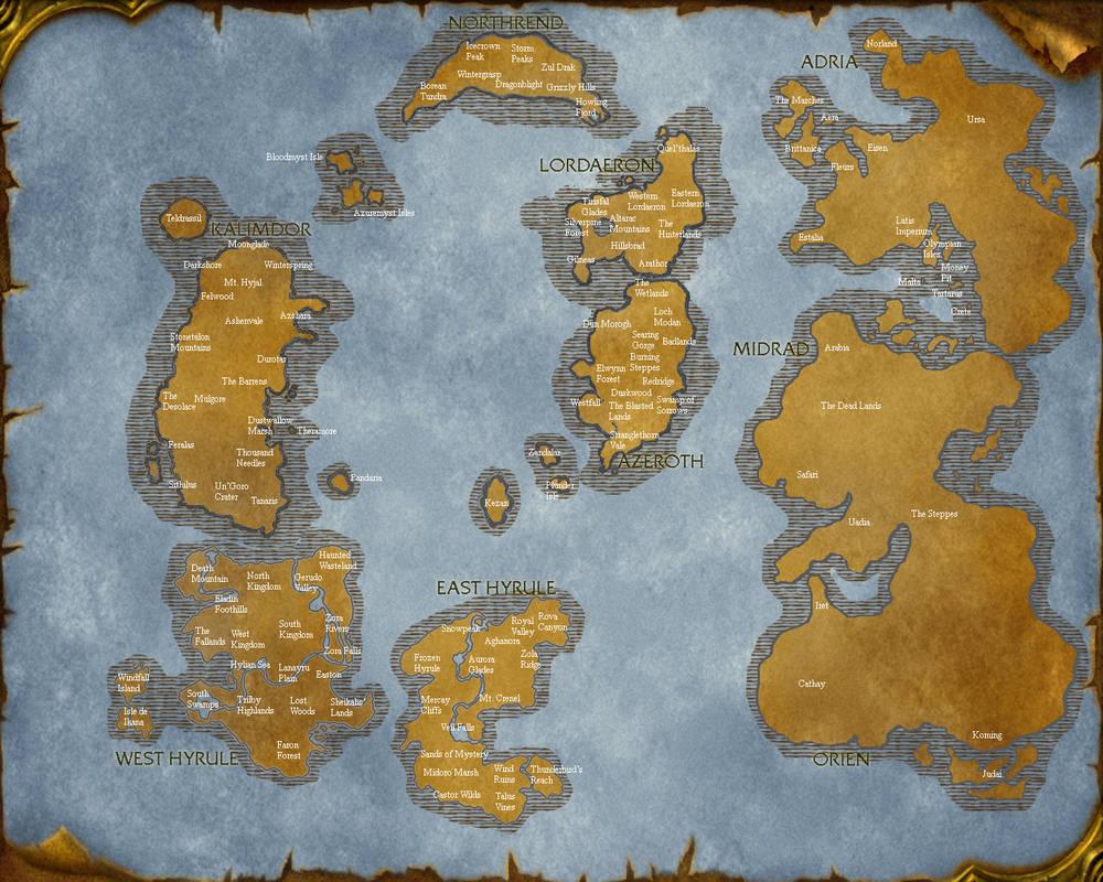 Legend of Soul Craft Map by ArdanBlade on DeviantArt