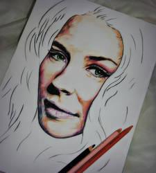 Facial Portrait of Evangeline Lilly by ArtbyBernadette