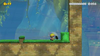 Builder Toadette Underwater 2 by crt2mtsu1