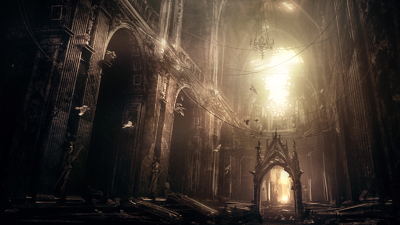 abandoned gothic cathedral by i-netgrafx