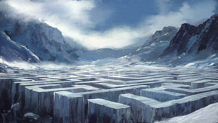 Speedpaint: Ice Labyrinth by inetgrafx