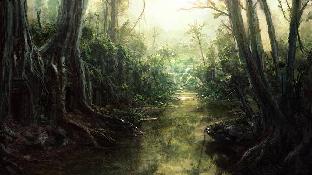 Speedpaint: Jungle River by inetgrafx