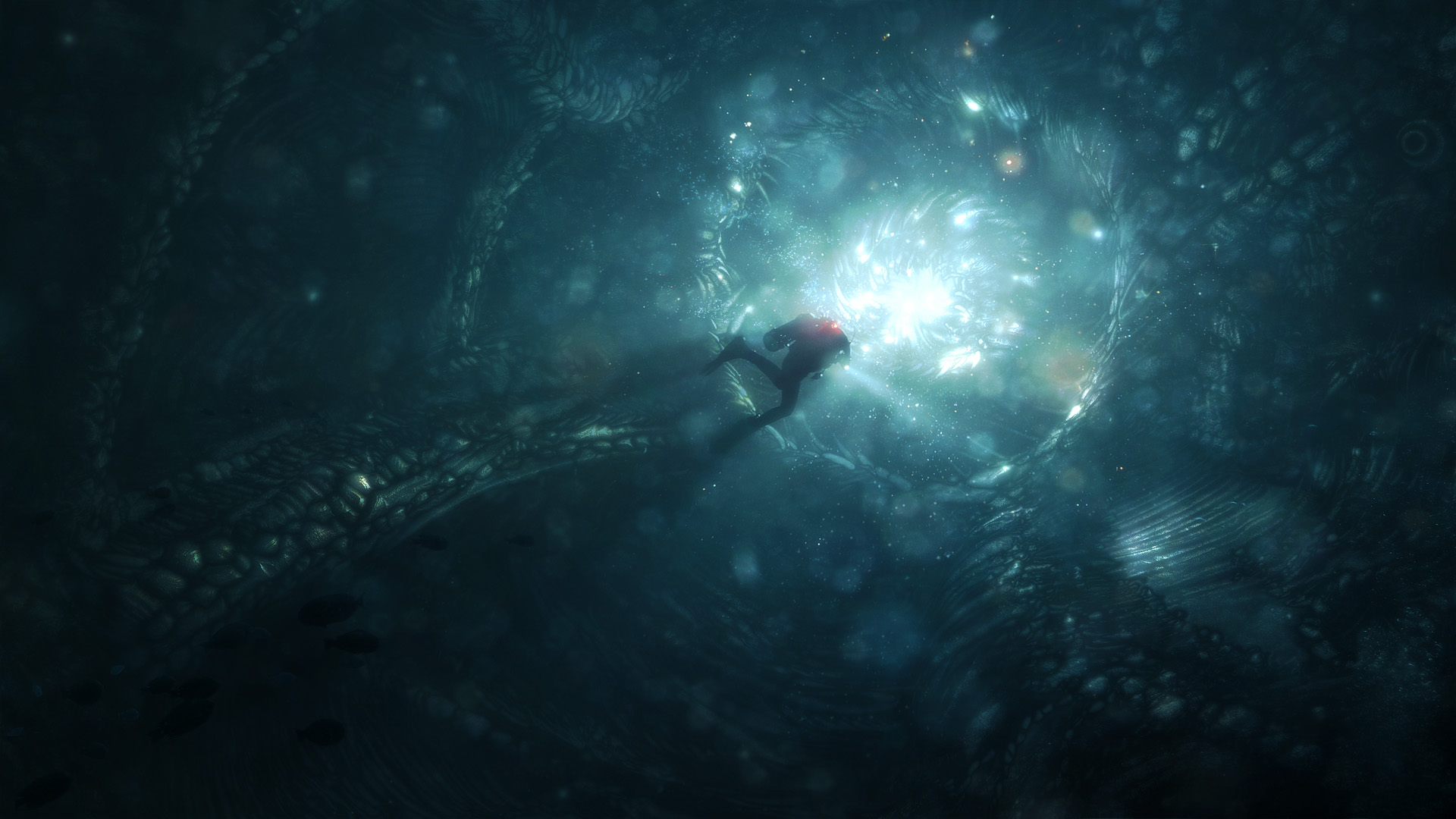 The Difference ... Cave Diver by inetgrafx on DeviantArt