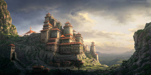 Chinese Monastery Concept
