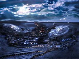 Matte: Alien environment by inetgrafx