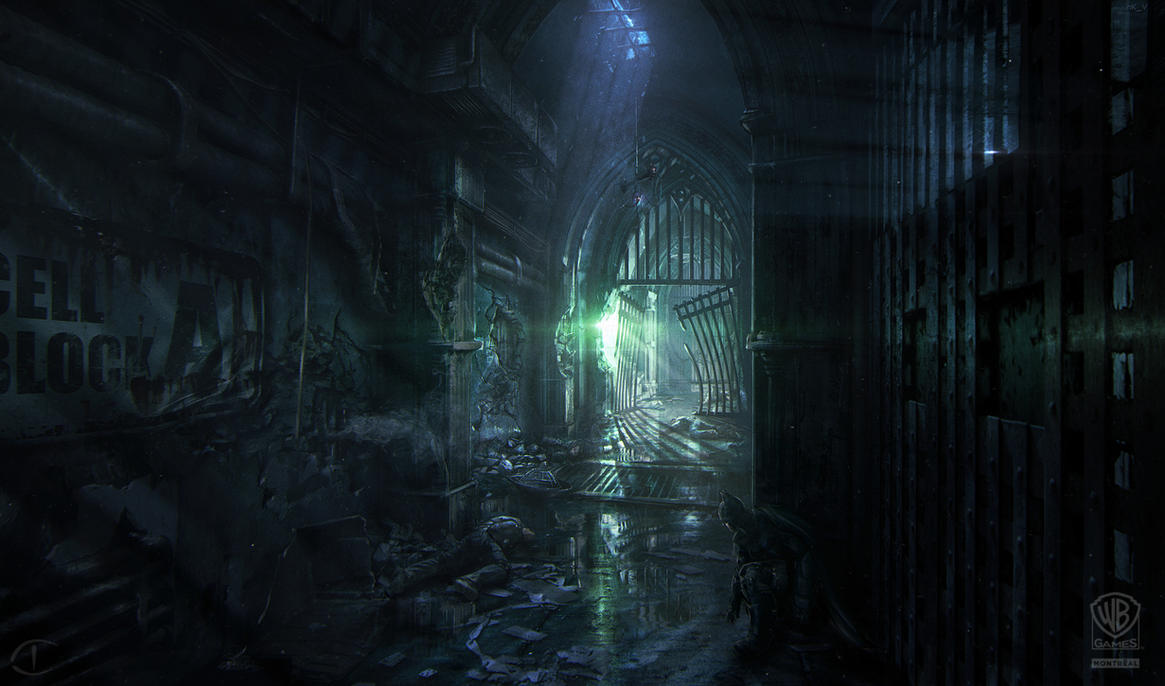 Batman - Arkham Origins: BLACK GATE HALLWAY by inetgrafx