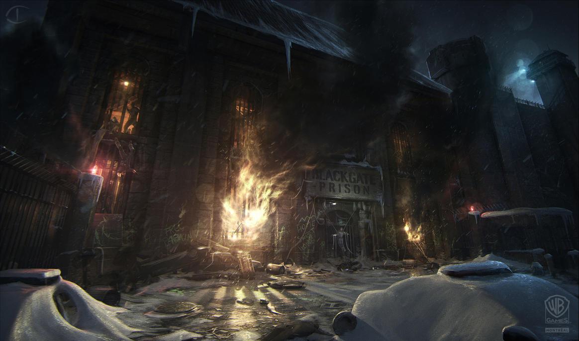 Batman - Arkham Origins: BLACKGATE ENTRANCE RIOT by inetgrafx