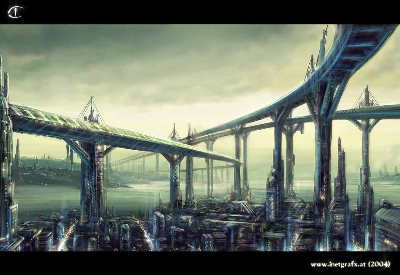 art futuristic cities - photo #33