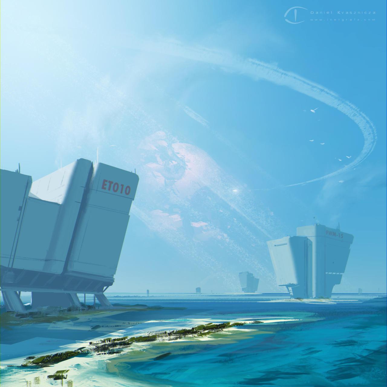 Futuristic Ocean Desalination Units