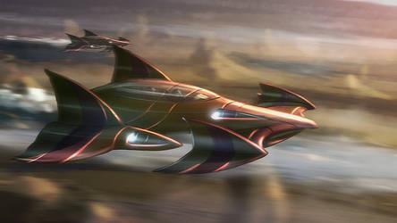 Speedpaint: Spacecraft by inetgrafx