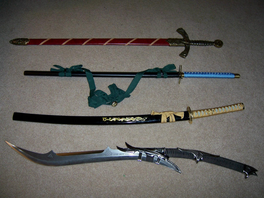 My 4 Swords by Ganal-Dragon