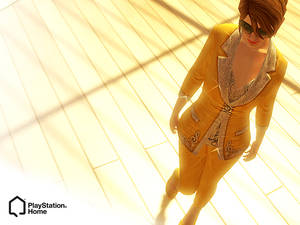 PlayStation Home: Gold Suit