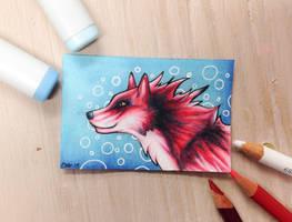 Red Wolf HeadShot by Artistlizard101