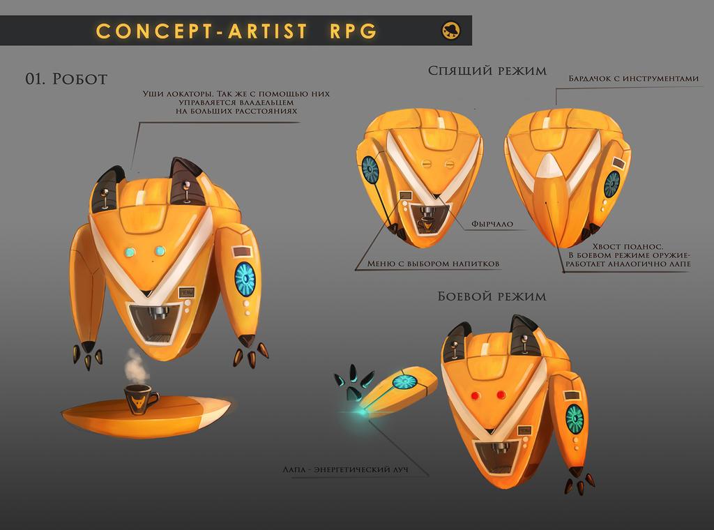 Concept Artist RPG Challenge 01. Robot by Misava