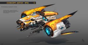 Concept Artist RPG Challenge 03. Sci-Fi Ship