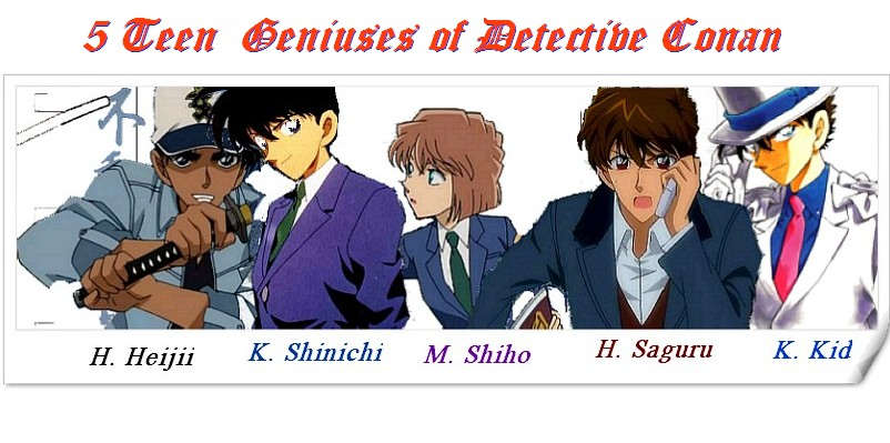 5 teen Geniuses of Detective Conan / Gosho boys by coolshiho on