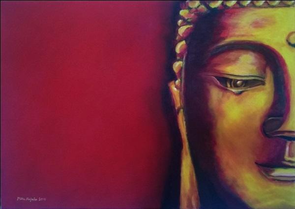 Half Face Buddha By MiquArt