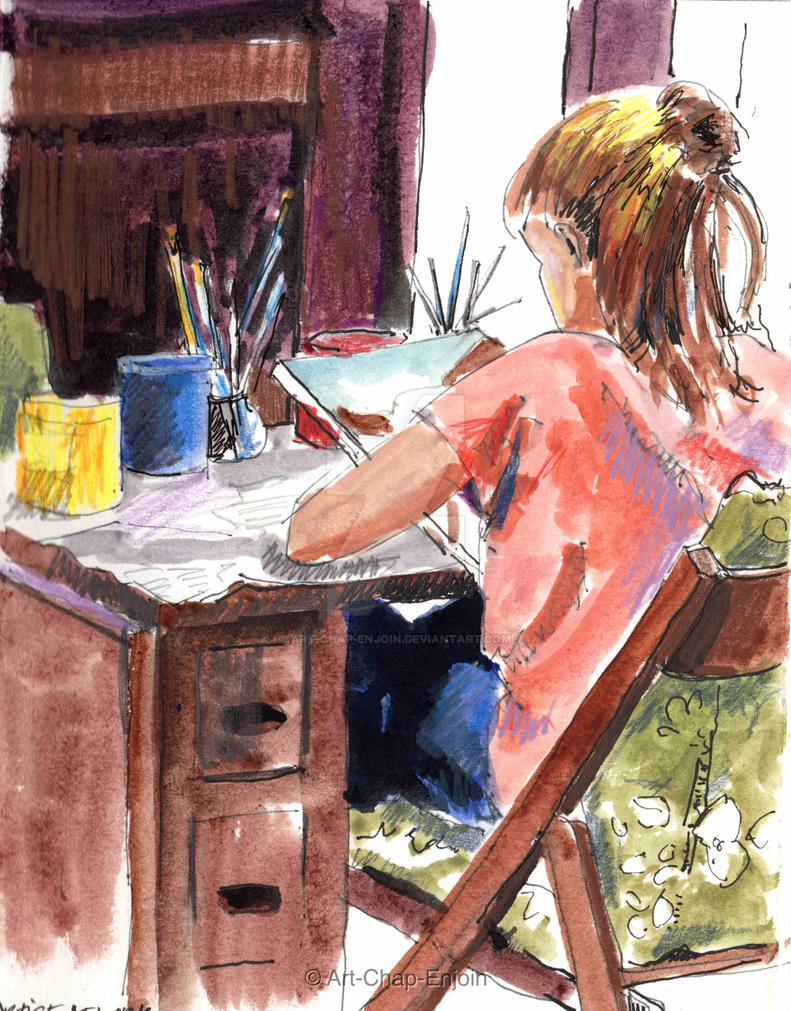 #418 - Artist at work by Art-Chap-Enjoin