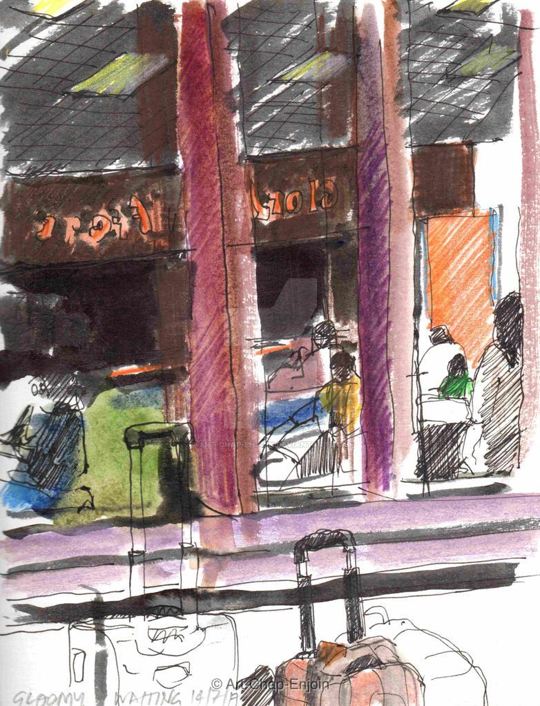 #448 - Gloomy waiting by Art-Chap-Enjoin
