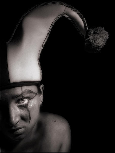 Selfportrait I - Dismal Jester by myownself