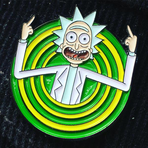 Peace among worlds! pin - Rick and Morty by Vitaliy-Klimenko