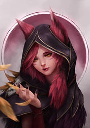 Xayah - Feathers by cheesewoo