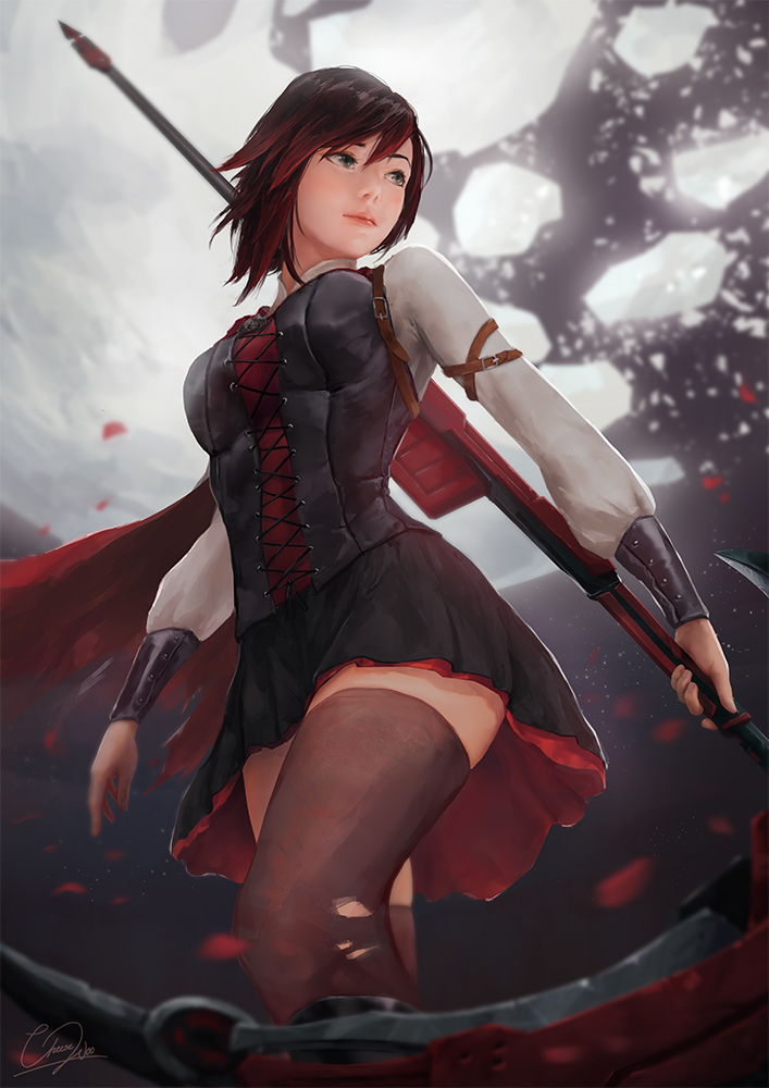 Ruby (Volume 5) - RWBY by cheesewoo