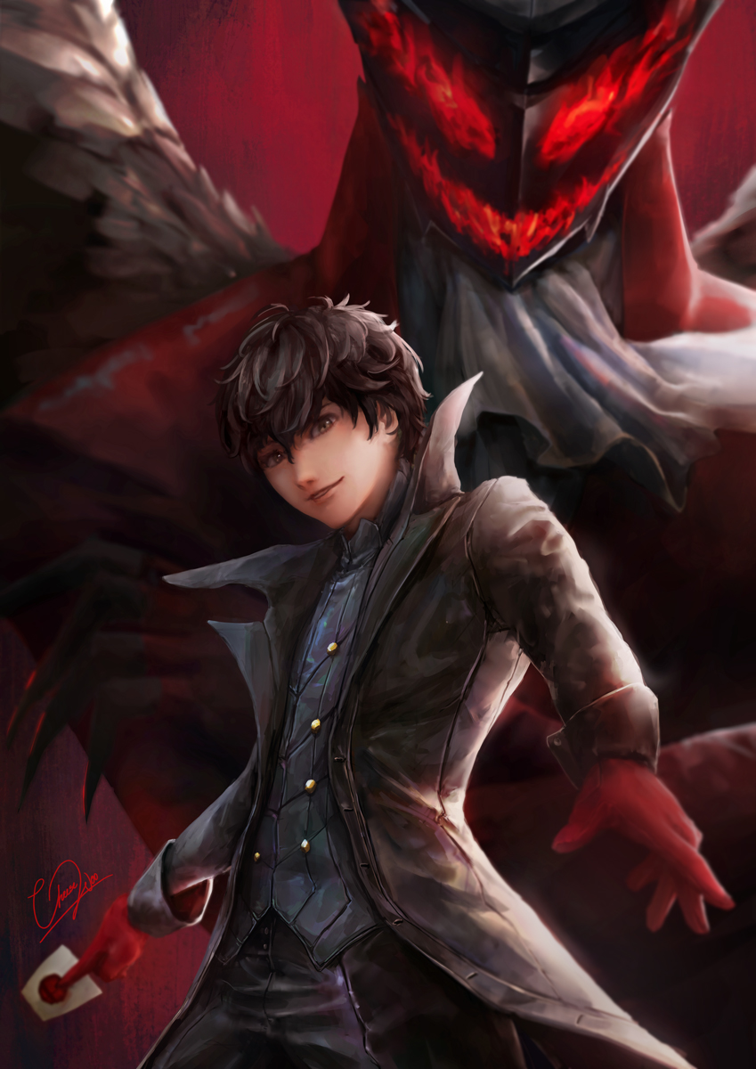 Joker And Arsene Persona 5 By Cheesewoo On Deviantart Arsene is an idiot who tries to drink coffee without a mouth. joker and arsene persona 5 by