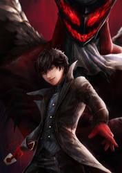 Joker and Arsene - Persona 5 by cheesewoo